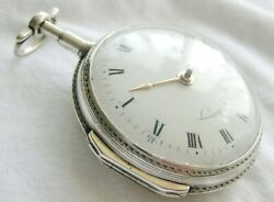 Gorgeous French Silver Verge Fusee Pocket Watch Landry A Paris Ca1810
