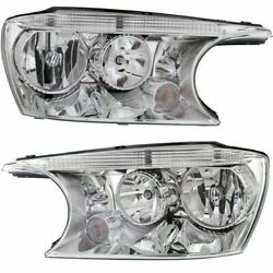 Headlight Set For 2004-2007 Buick Rainier Left And Right With Bulb 2pc