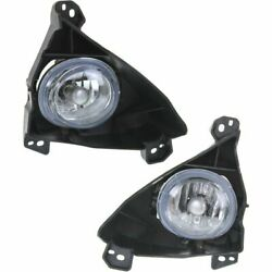 Set Of 2 Clear Lens Fog Light For 2012 Mazda 5 Lh And Rh W/ Bulbs