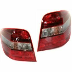 Halogen Tail Light Set For 2006-2011 Mercedes Benz Ml350 Clear/red W/ Bulbs 2pcs