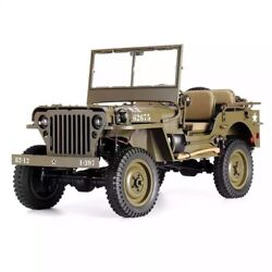 Rc Car Us Army Willys Jeep Ww2 1/6 2.4g 2 Ch Waterproof Motor Truck Mb Scaler 19