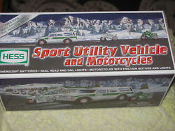 Hess Sport Utility Vehicle And Motorcycles Nib 6 In Case 2004 Truck And Bike
