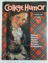 College Humor Magazine 109, Feb. 1933 Vg/fn Rolf Armstrong Cover Christy Ad