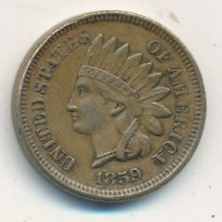 1859 Indian Head Cent-very Nice Gently Circulated Cent-ships Free Inv3