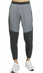 New Nike Therma Essential Running Gym Pants Mens Gray Cu5518-084 Size Xl