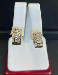 18kt Yellow Gold 1.5cttw. Vs/si Clarity Diamond Cluster Snapback Earrings