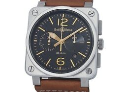 Bell And Ross Aviation Golden Heritage Chronograph Br03-94 Box Dial Black Case 42