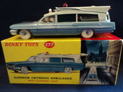 Dinky Toys 1960's Superior Criterion Ambulance No277 N/mint Ex Shop Stock