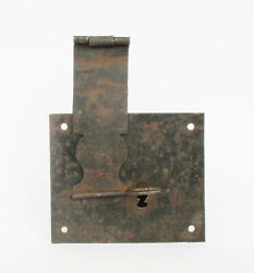 Antique Trunk Chest Iron Lock With Key. Hardware. Collectible. Decorative