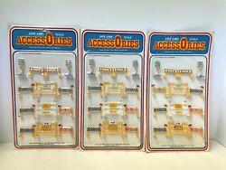 """Life-like Accessories """"o"""" Scale Electric Train Road Signs And Barriers 01146– New"""