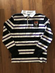 Rugby Long Sleeve Shirt Rlrfc Size Xl No. 5 Polo Vintage Slim Fit