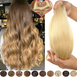 7/8 Pcs/pack Clip In Natural Real Remy Human Hair Extensions Thick Ombre Brown M