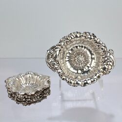 7 Pc Reed And Barton Les Cinq Fleurs Nut Dish And Master Bowl Sterling Silver Set Sl