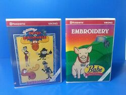 Husqvarna Viking Rocky And Bullwinkle And Babe Embroidery Designs For Designer 1