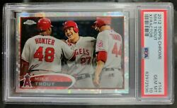 2012 Topps Chrome Mike Trout Xfractor Refractor Psa 10 Gem Mint