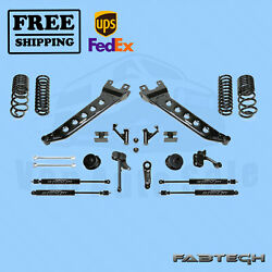 5 Radius Arm Sys W/coil Springs And Stealth Shocks Fabtech For 14-17 Ram 2500 4wd