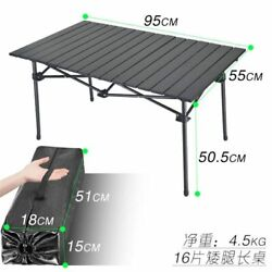 Outdoor Folding Table Camping Aluminum Alloy Bbq Picnic Waterproof Durable Desk