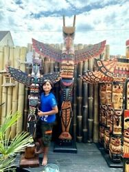 Indian Totem Pole Wood 200 Metres 7874 Inches 656 Feet Little Big Horn