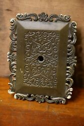 Vintage Brass Ornate Doorbell Plate Cover Box Antique Hardware