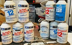 Lot Of 10 New Old Stock R12 Genuine Refrigerant 12oz Auto Ac Air Conditioning