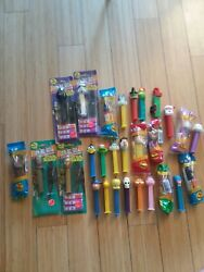 Lot Of 28 Pez Dispensers Star Wars Batman Peanuts Luney Tunes And More