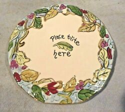 Blue Sky Clayworks Base Plate For T Lite Candle Tile Holder 6 1/4 Round