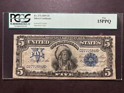 Fr.273 1899 5 Silver Certificate Indian Chief Note Pcgs F 15 Choice Fine Ppq
