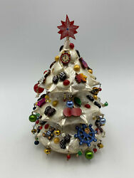 6,5 Christmas Tree Weeble Wobble , Exclusive Tree Decoration, Hand Made, Hand