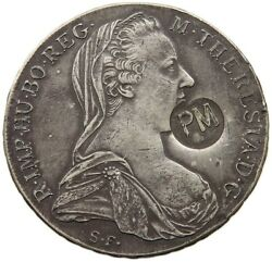 Mozambique Taler 1780 Sf Maria Theresia Countermark Pm T59 459