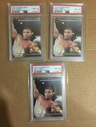 1991 Ringlords Players International Mike Tyson Sample Boxing Cards Psa 8