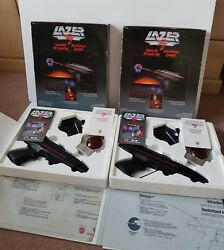 Excellent Condition Two Lazer Tag Battery Game,worlds Of Wonder, Mattel 1986-wow