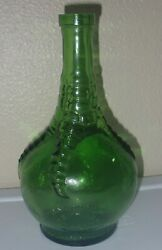 Vintage Wheaton Ball And Claw Bitters Best Remedy Green Glass Bottle 9 Tall
