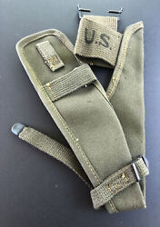 1951 Us Army Military Od Canvas Pick Axe Ax Carrier Holder Belt Case Pouch Cover