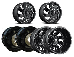 6 Fuel Off-road D574 Cleaver G-black Milled F/r/i Dually Wheels 8x170 20x8.25