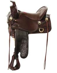 Tucker High Plains Trail Saddle 17.5andrdquo Wide Tree Brown Updated Design Model T60