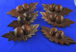 Antique Wooden Fruit And Nut Drawer Pulls 6 - Carved Wooden Fruit And Nut Pulls 6