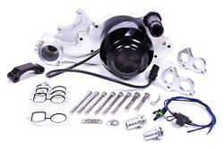 Meziere Natural Alum Street Style Electric Water Pump Kit Fits Gm Ls P/n Wp329n