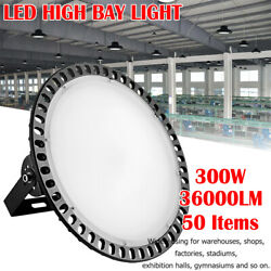 50x 300w Led High Bay Warehouse Bright White Fixture Factory Outdoor Light Mall