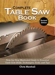 Marshall Chris-the Complete Table Saw Bookrevis Uk Import Bookh New