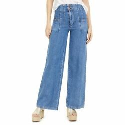 Free People New Womenand039s Midnight City Wide Leg Jeans Tedo