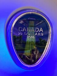 Canada 2018 Ufo At Falcon Lake Silver Glow-in-the-dark 20 Coin With Flashlight
