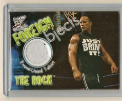 Fleer Wrestlemania 2001 The Rock Foreign Objects Event Used Relic Memorabilia