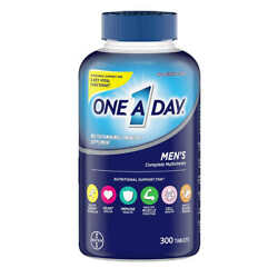 One A Day Menand039s Multivitamin Supplement 300 Tablets Exp 04/23free Shipping