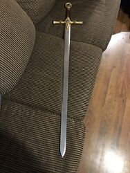 """Broad Sword Of The Free Masons Marto Made In Spain 45 1/4"""""""