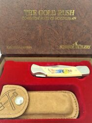 First Made Schrade Cutlery Usa Limited Edition Pocket Folding Knife - Gold Rush