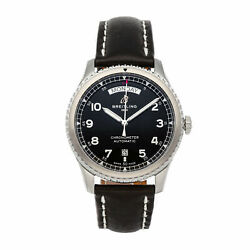 Breitling Aviator 8 Day Date Mens Automatic Strap Watch A45330101b1x1