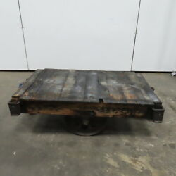 Lineberry Antique Industrial Factory Warehouse Railroad Coffee Table Cart 30x48