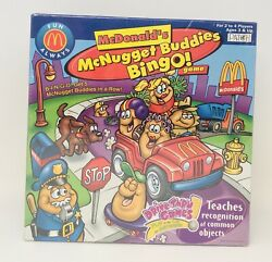 Mcdonalds Mcnugget Buddies Bingo 2002 Car Game Play On The Go Patch Games New