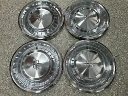 Lincoln 1961 61 Hubcaps Nice Used Oem Fomoco Wheelcovers 4- Hubcap