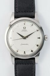 Omega Seamaster 2521-11s Jumbo Case Automatic Vintage Watch 1954and039s Overhauled